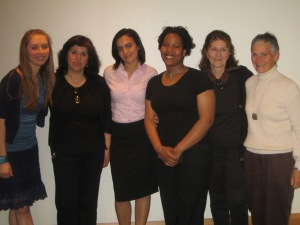 Facilitators and speakers at a dialogue about the Israeli-Palestinian conflict at Howard Community College in 2008.